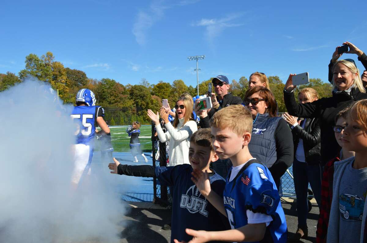 Darien High School and Trinity/wright Tech faced off on the football field on October 19, 2019. Were you SEEN in the stands?