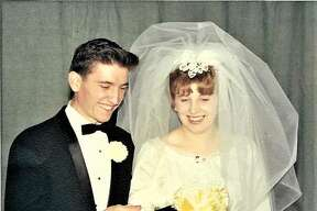 Terry and Brenda Simms at their wedding