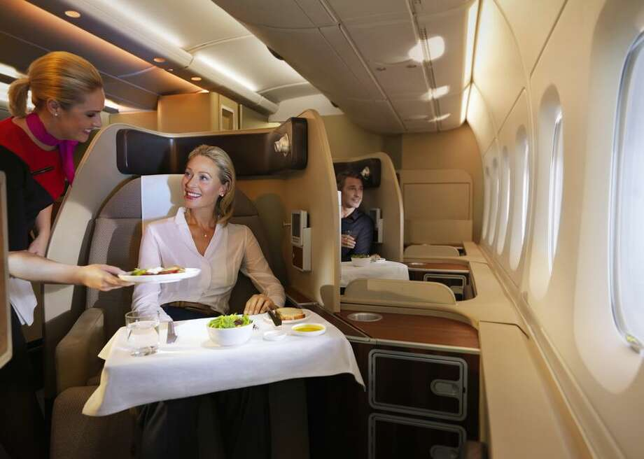 File photo of a traveler in first class. Photo: CBSI/CNET