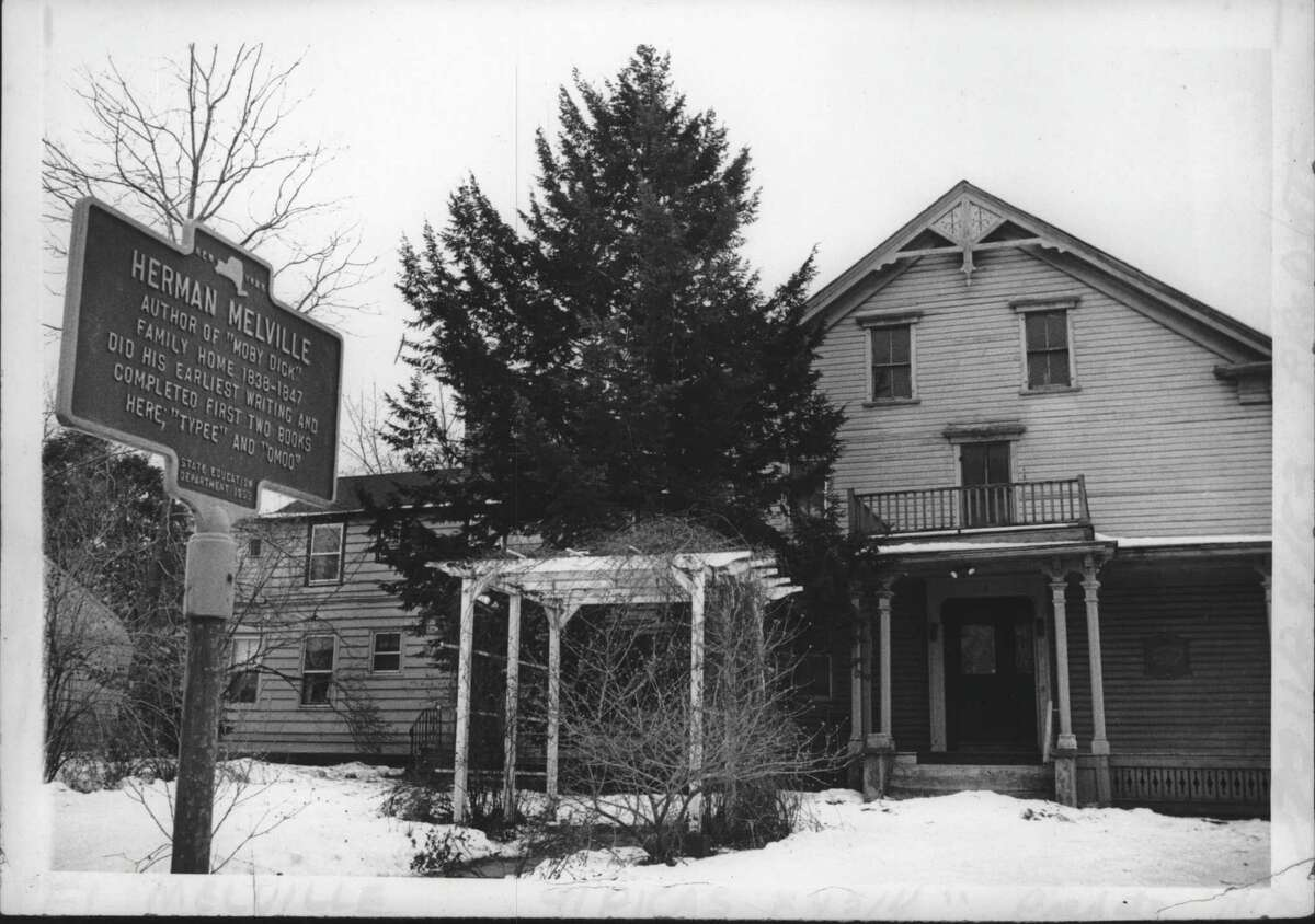 """Southwest corner of 1st Avenue & 114th Street, Troy, New York - family hoe of Herman Melville, author of """"Moby Dick"""". January 06, 1982 (Bob Richey/Times Union Archive)"""