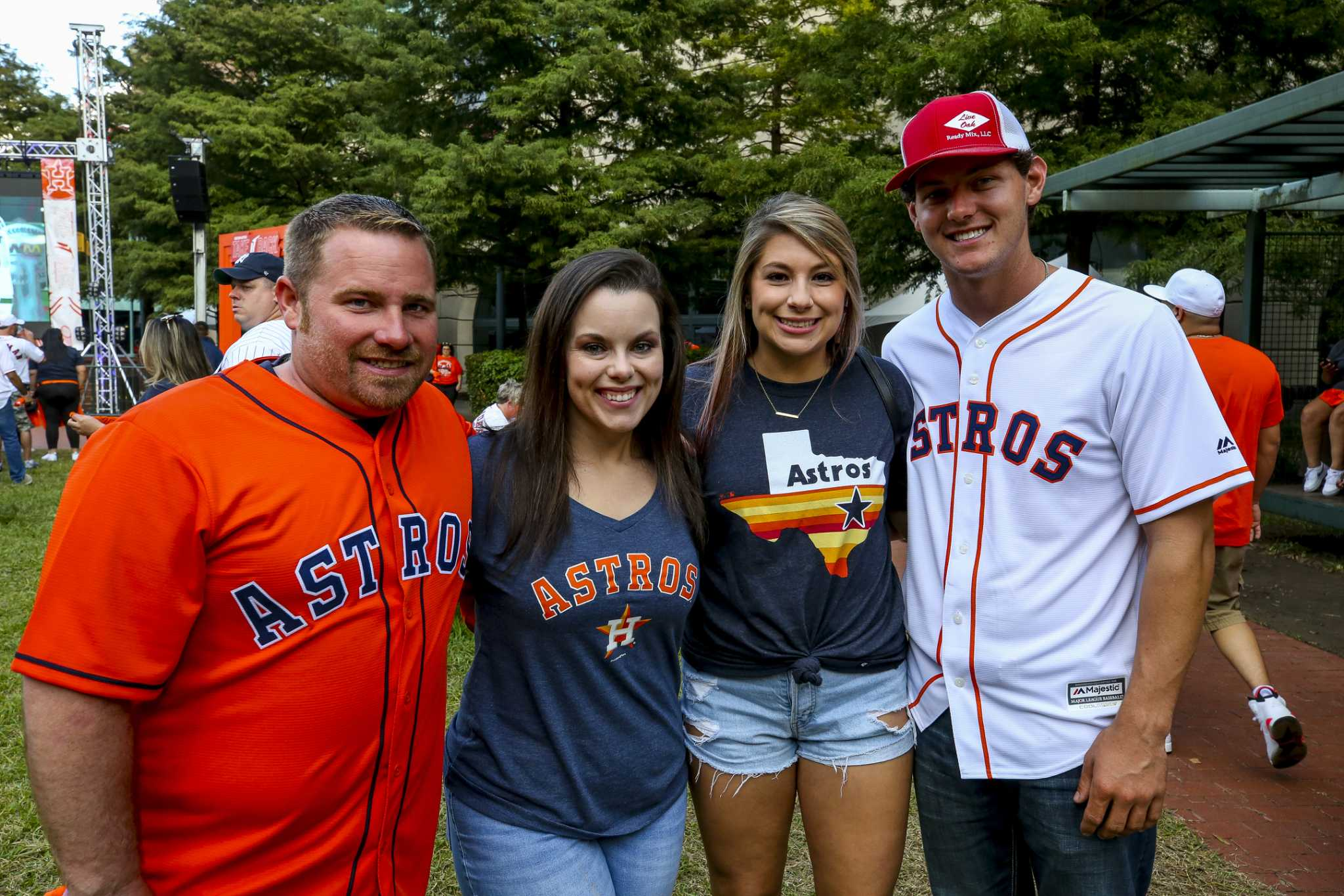 Astros fans at Game 6 of the ALCS against the Yankees