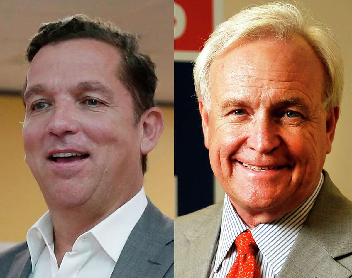 Mayoral candidates Tony Buzbee and Bill King are among a field of 11 candidates looking to deny Mayor Sylvester Turner a second term.