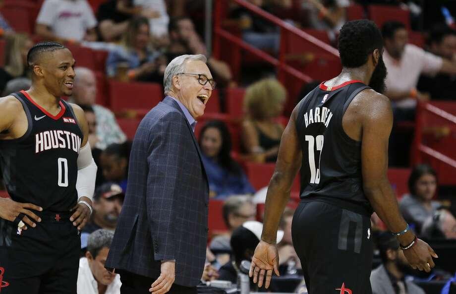 >>> Check outthe Rockets' most recent odds at winning the Southwest Division, the Western Conference and the NBA Finals this season, according to VegasInsider.com.  You can also see the projections for some of the other top teams in the Western Conference and the rest of the NBA. Photo: Joe Skipper, Associated Press