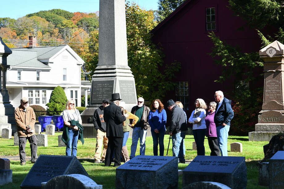 The 6th Annual Cemetery Walk was held at Center Cemetery on October 19, 2019. 9 characters from Winsted's  town history came to life to tell their stories. 60 minute tours were sponsored by The Soldiers Monument Commission. Photo: Lara Green- Kazlauskas/ Hearst Media