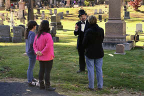 The 6th Annual Cemetery Walk was held at Center Cemetery on October 19, 2019. 9 characters from Winsted's  town history came to life to tell their stories. 60 minute tours were sponsored by The Soldiers Monument Commission.