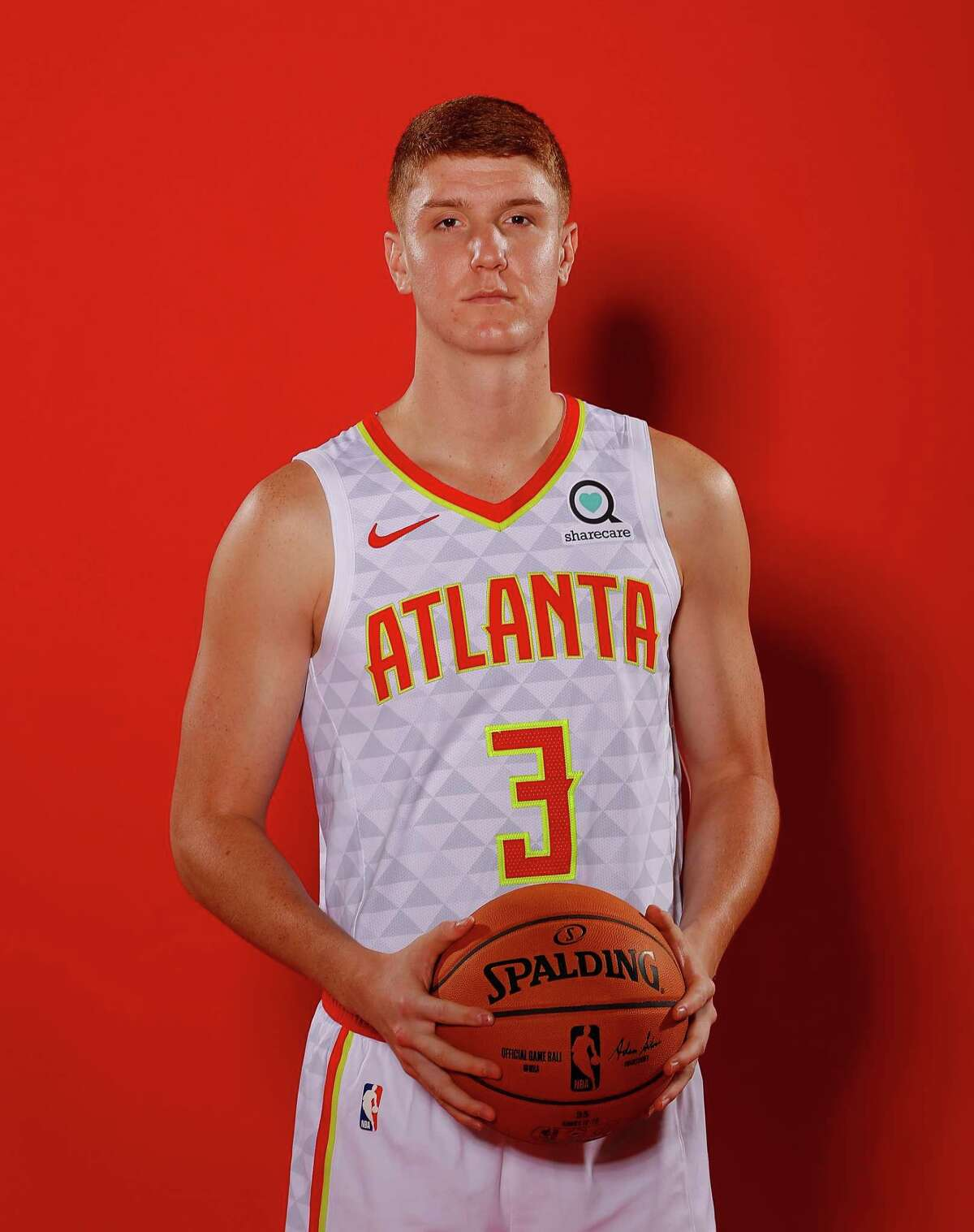 ATLANTA, GEORGIA - SEPTEMBER 30: Kevin Huerter #3 of the Atlanta Hawks poses for portraits during media day at Emory Sports Medicine Complex on September 30, 2019 in Atlanta, Georgia. (Photo by Kevin C. Cox/Getty Images)