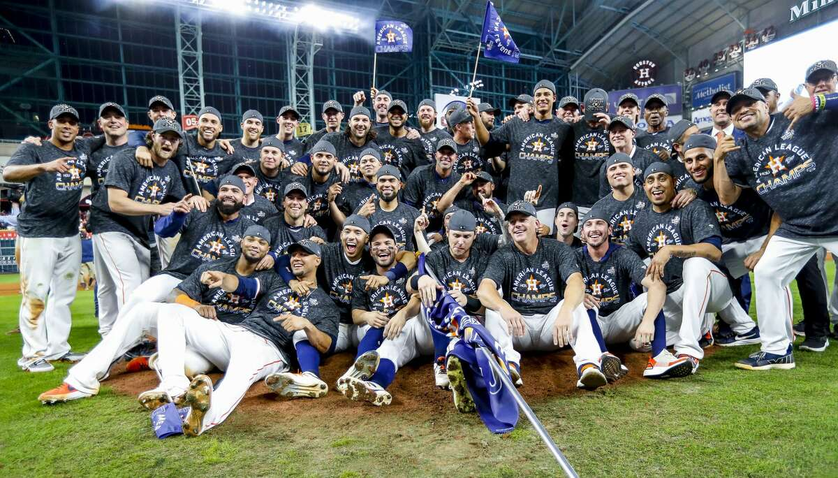 PHOTOS: ALCS Game 6 The Houston Astros celebrate after winning Game 6 of the American League Championship Series at Minute Maid Park in Houston on Saturday, Oct. 19, 2019. >>>Look back at photos from the Astros' ALCS-clinching win over the Yankees on Saturday ...