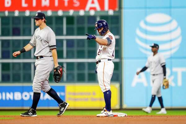 Jose Altuve and the Astros averaged almost a run more per game at home than they did on the road in the regular season, hitting 19 points higher and slugging 40 points higher.