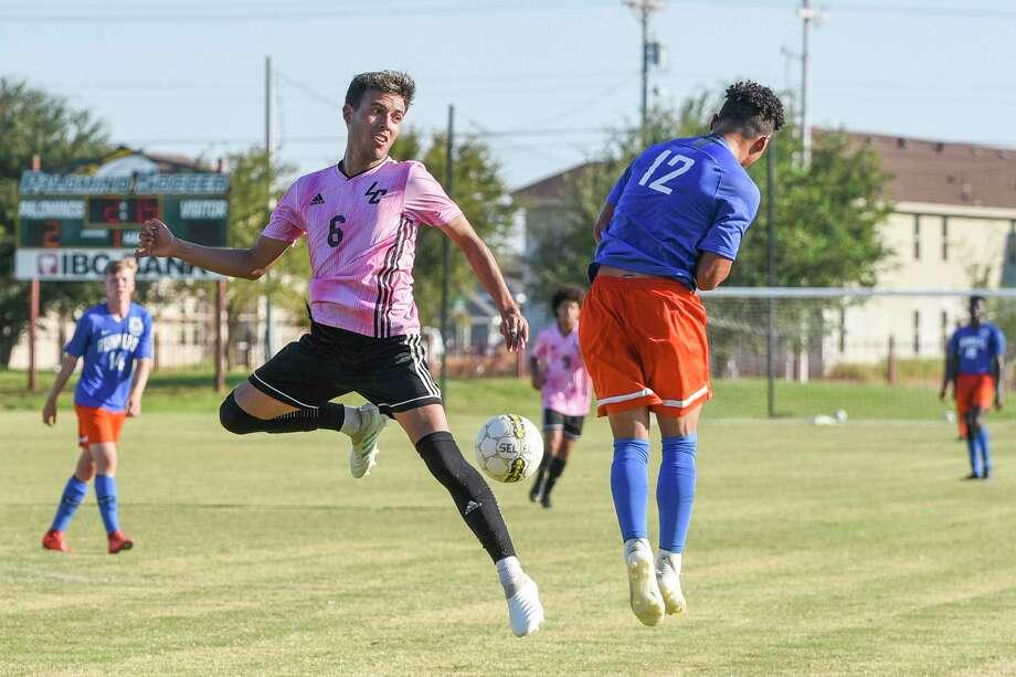 Sebastian Rivera and the Palominos defeated Angelina College 3-0 on Saturday at home. Photo: Danny Zaragoza /Laredo Morning Times