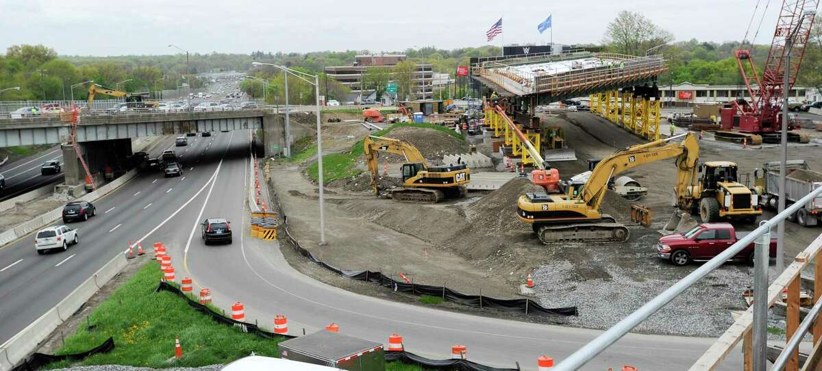 A bridge replacement project at exit 9 on I-95 in Stamford.