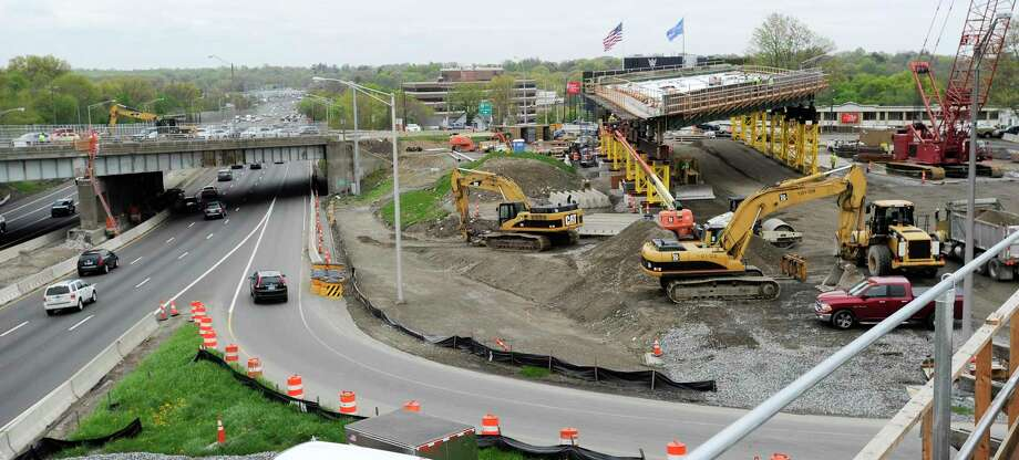 A bridge replacement project at exit 9 on I-95 in Stamford. Photo: File Photo / Stamford Advocate
