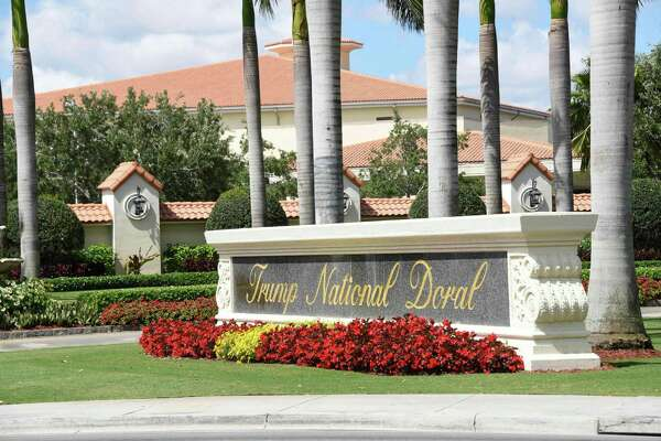 "The entrance of Trump National Doral golf club in Miami, Florida, where President Donald Trump has awarded hosting of the next G7 summit, the White House said on Thursday, sparking accusations of corruption from the lawmakers and activists. The Trump National Doral Golf Club was ""the best place"" among a dozen possible US venues for the June 10-12 gathering next year, acting chief of staff Mick Mulvaney told reporters at the White House."