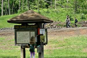 "Hamden, Connecticut - Friday, June 14, 2019: Sleeping Giant State Park reopened to the public on Friday. The park has been closed since May 2018 as the result of damage caused by a tornado and severe storms, according to CT.Gov. Work has been completed making the park and the trails safe for hikers and picnicking visitors. The cost of the restoration totaled $735,000 and approximately 75% will be reimbursed by the Federal Emergency Management Agency. Sleeping Giant Park is over 1,400 acres of land, ""including almost 2-miles of mountaintop resembling a large human figure lying in repose, the 'sleeping giant'""."