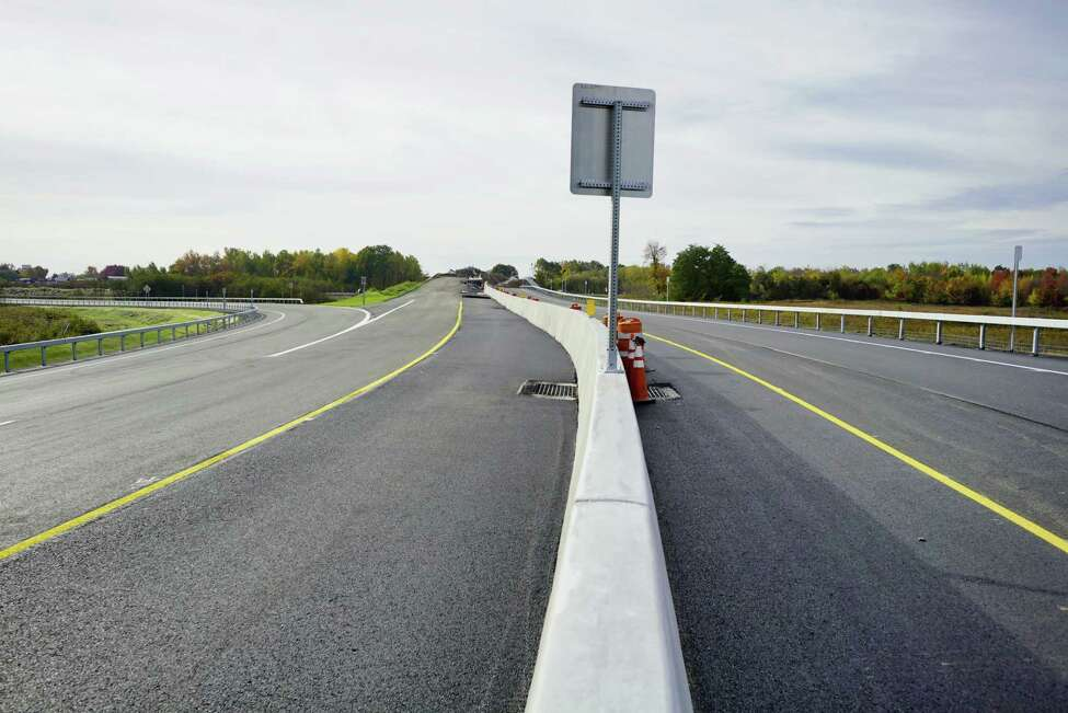 A view a section of the new exit 3 off of Interstate 87, on Sunday, Oct. 20, 2019, in Colonie, N.Y. (Paul Buckowski/Times Union)