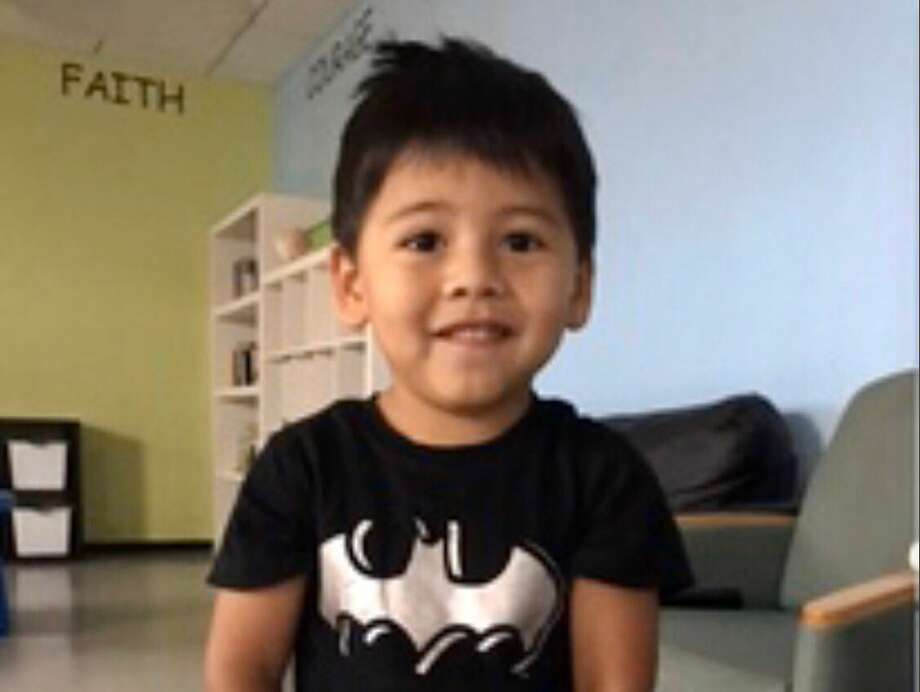 Harris County Sheriff's deputies are searching for the parents or guardian of a three-year-old boy found early Sunday near Village Creek. Photo: HCSO