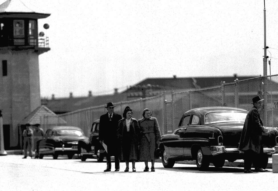 ADVANCE FOR WEEKEND EDITIONS, DEC. 15-16--FILE--Ethel Rosenberg, center, convicted atomic spy, arrives at Sing Sing prison, Ossining, N.Y. April 11, 1951, under sentence of death. Flanking her are U.S.. Deputy Marshals Antony H. Pavone, left, and Sarah Goldstein. The mother of two children was sentenced to death along with her husband, Julius.