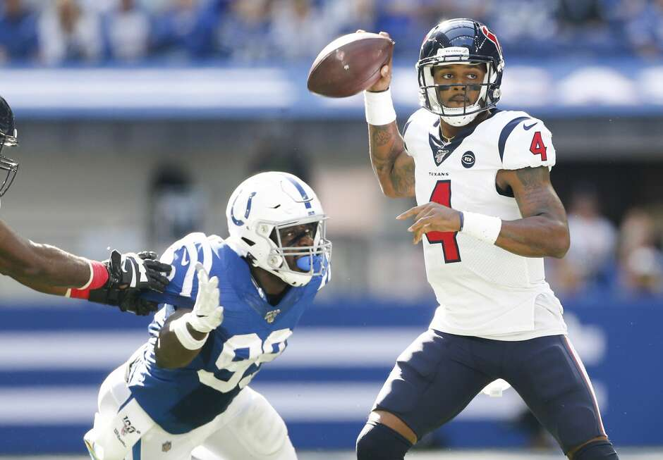 The Texans and Deshaun Watson will look for a bounce-back performance against the Colts, who have won the teams' past three meetings.