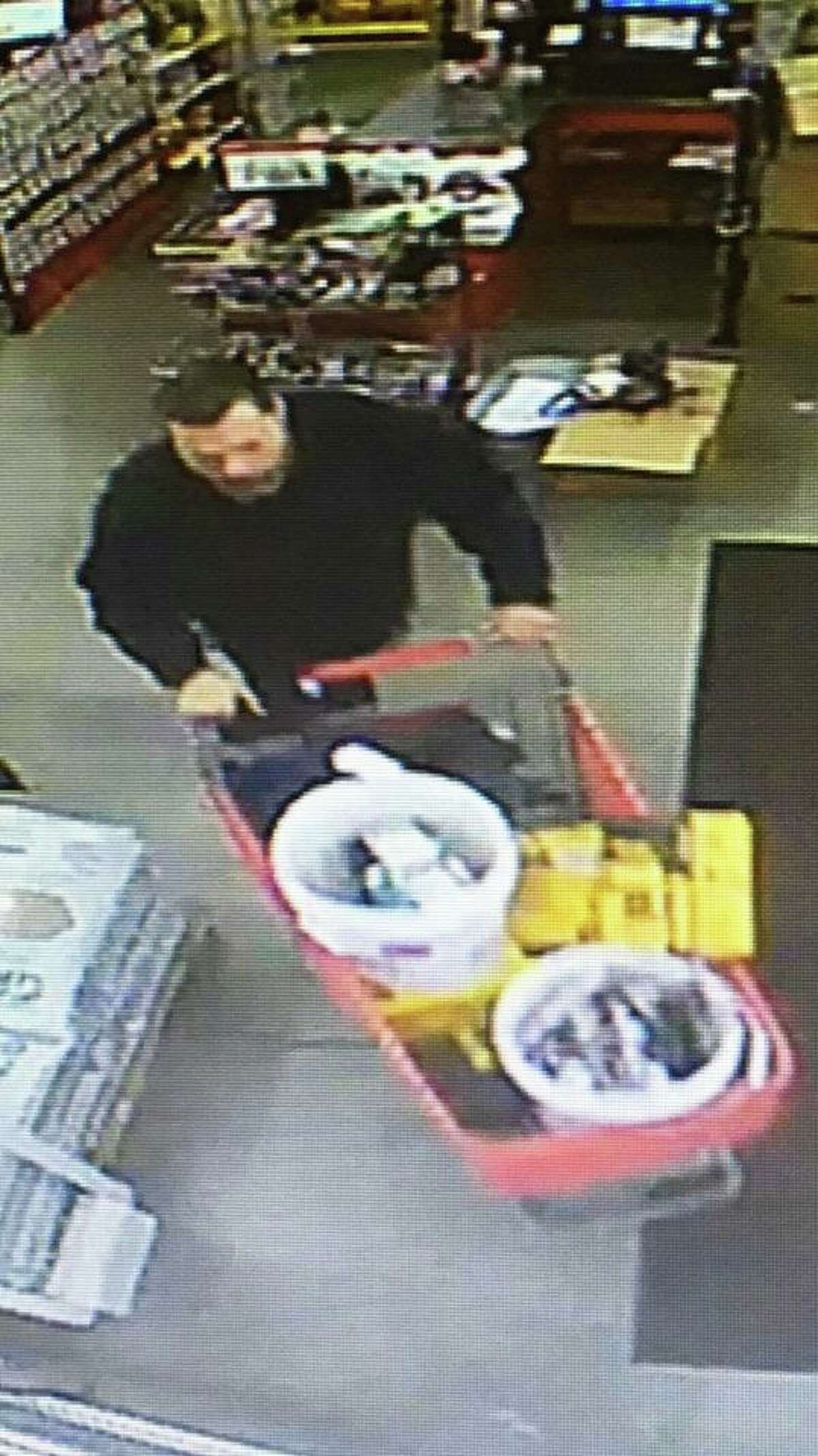 Guilford Police are seeking to identify the man in this photo, believed to have taken tools from an area hardware store on Oct. 20, 2019.