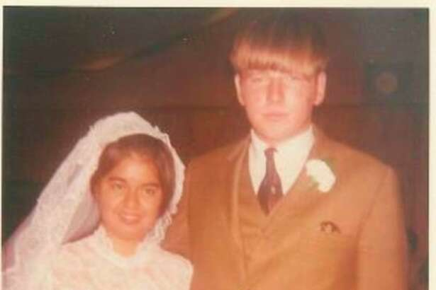"""""""Happy 50th anniversaryLanny and Blanca Russell, your children love you lots,"""" Ann, Camie and Aaron."""