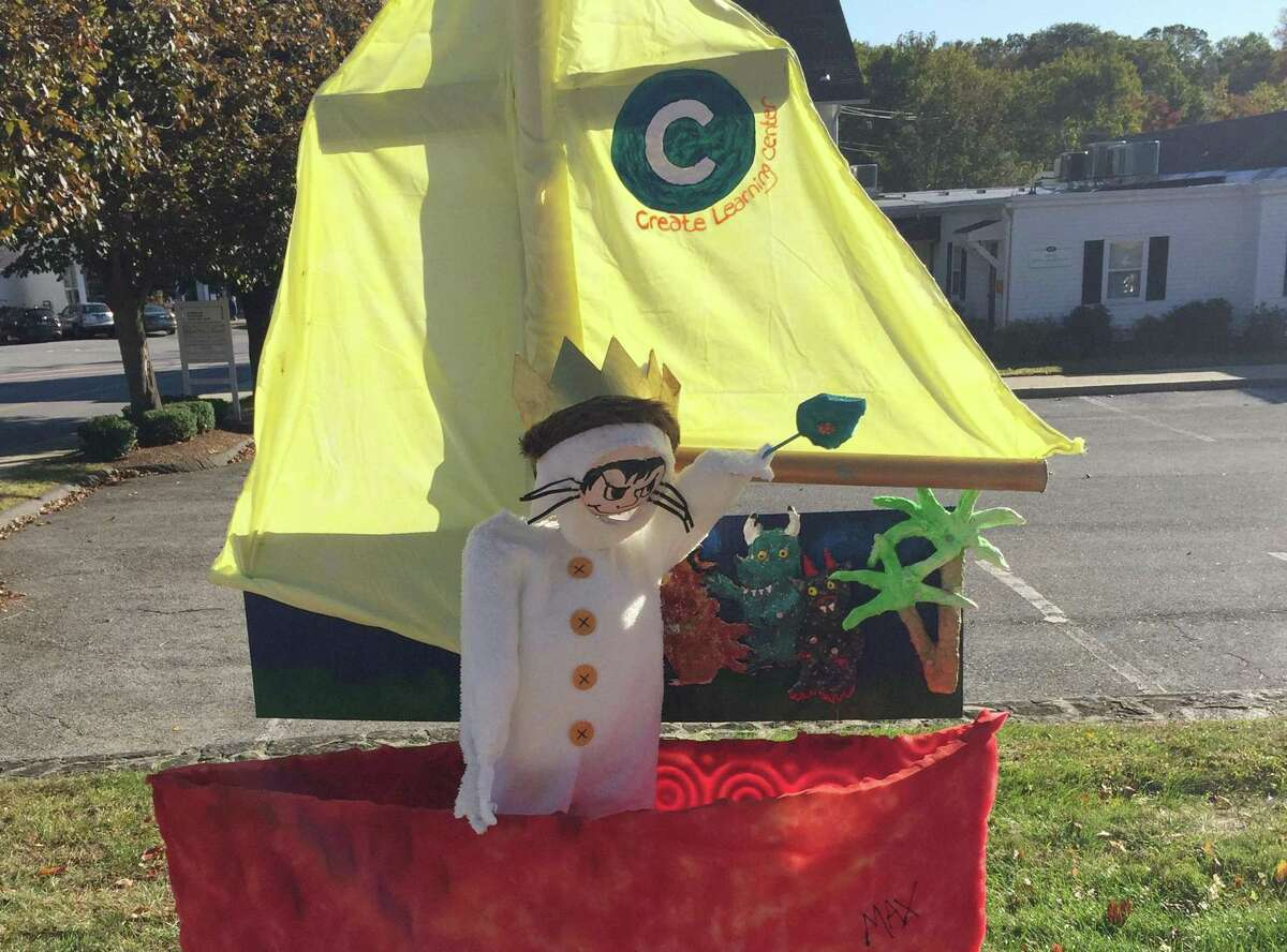 """A """"Wild Thing"""" scarecrow from Wilton's 2019 Scarecrow Fest. This year's lineup of scarecrows will take place from Oct. 16 through Nov. 2."""