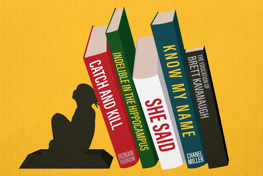 Illustration for BOOKS-METOO story by Lisa Bonos. Photo: Washington Post Illustration / The Washington Post