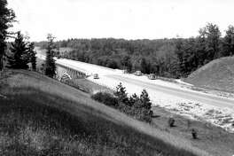 This 1935 photo shows Cooley Bridge that is located on M-55 shortly after it had opened to traffic.