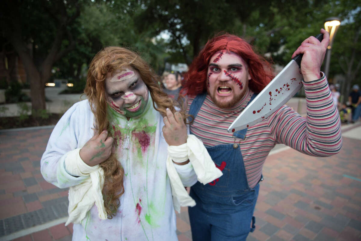 The undead strolled the streets of downtown San Antonio on Sunday.
