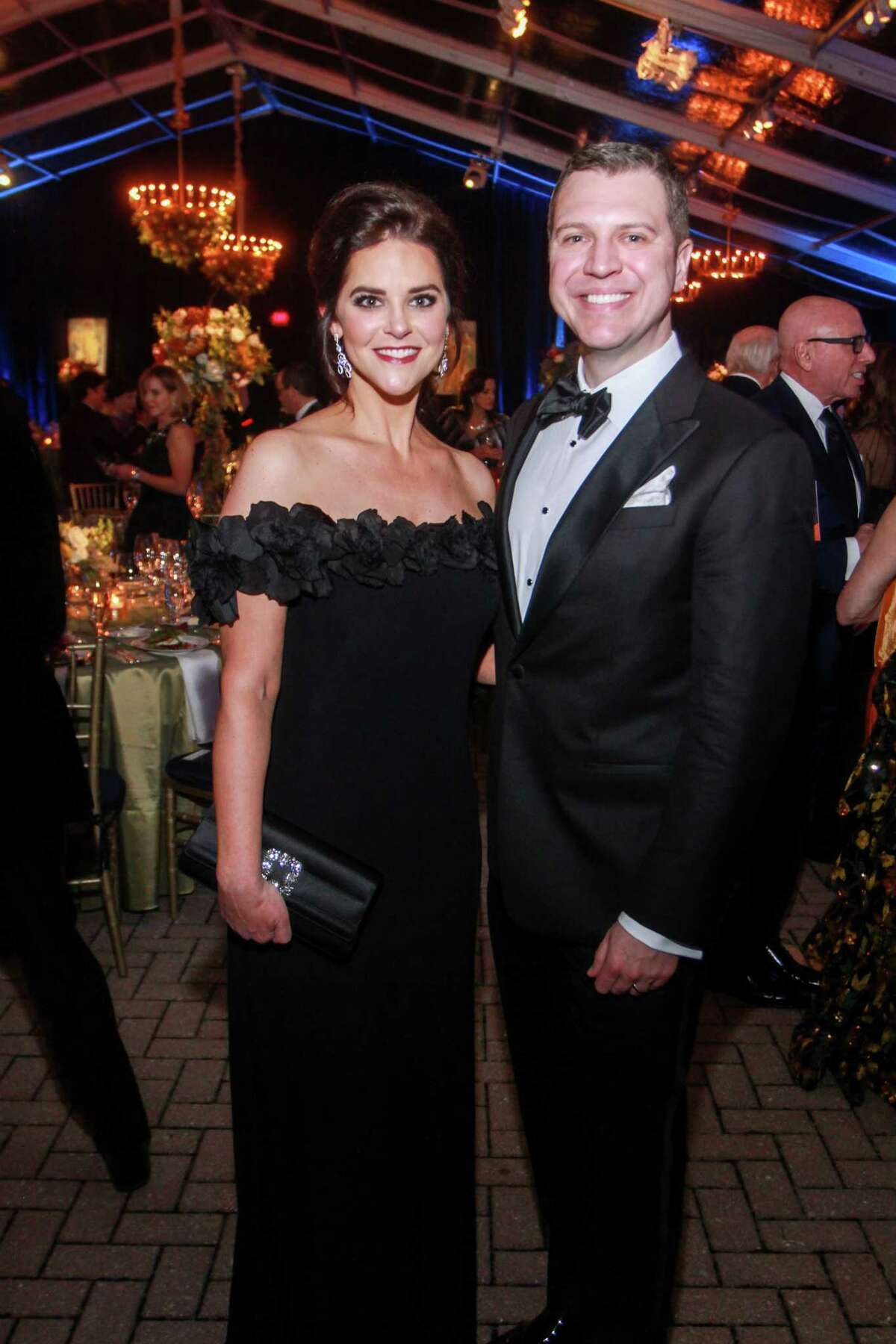 Ann and Jonathan Ayre at the Houston Grand Opera Opening Night Gala Dinner at the Wortham Theater Center in Houston on October 18, 2019.
