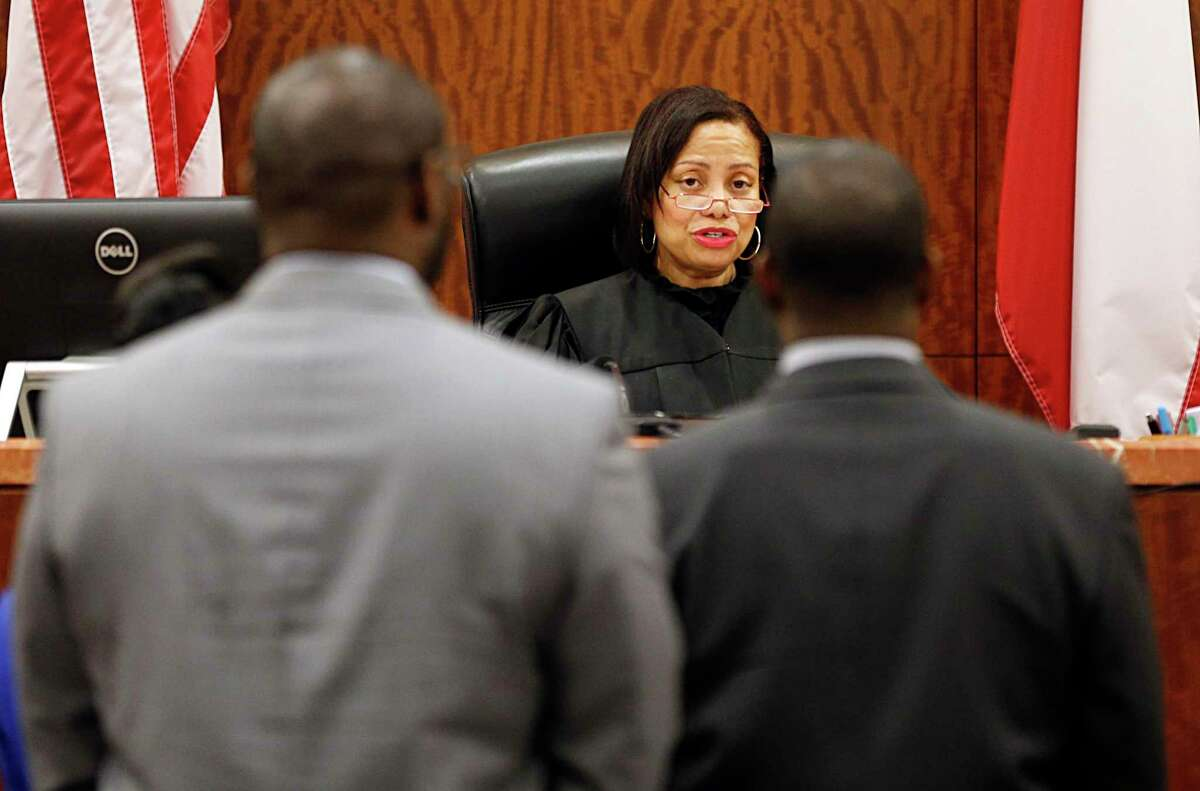 Former state district judge Maria Jackson presides over a sexual assault case in January 2016. ( James Nielsen / Houston Chronicle )