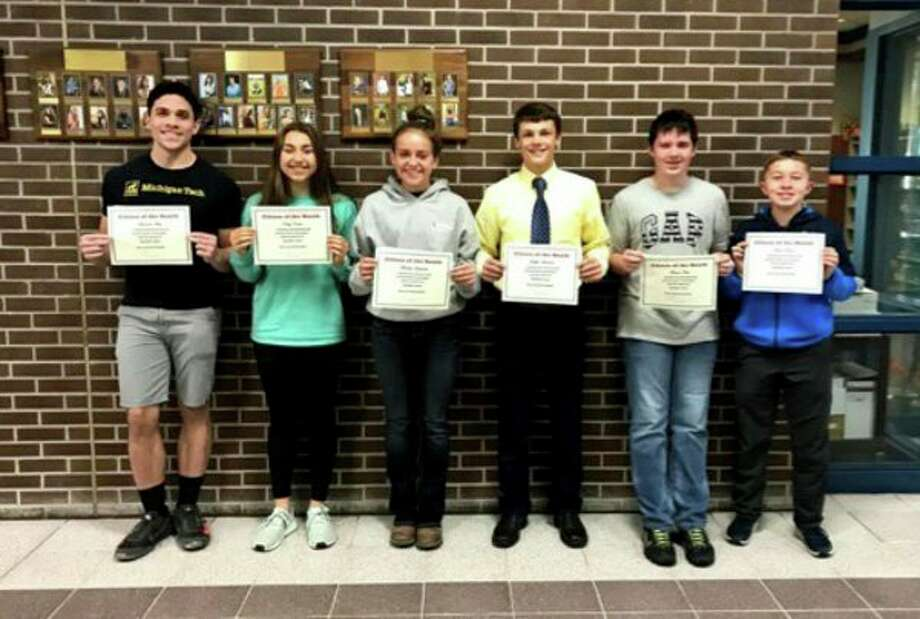 Bad Axe High School announces their October Citizens of the Month. They are Armando Motz grade 12, Katey Krohn grade 11, Madelyn Laskowski grade 10, Griffin Meinhold grade 9, Baron Kube grade 8 and Tristen Shisler grade 7. (Submitted Photo)