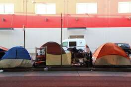 A homeless encampment in San Francisco. Homelessness is an expanding crisis that many California residents say has tested the tolerance and liberal values for which the state is better known.