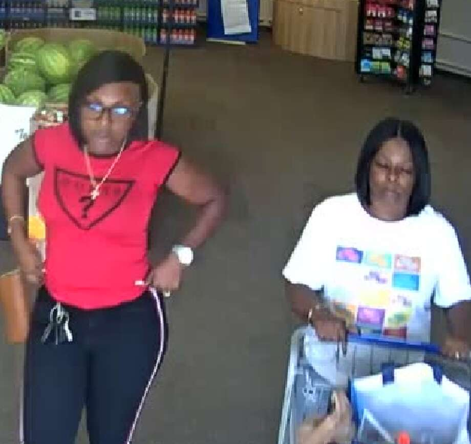 Tomball Police Department is looking for three women, caught on surveillance footage, suspected of forgery and theft. Photo: Tomball Police Department/ Facebook