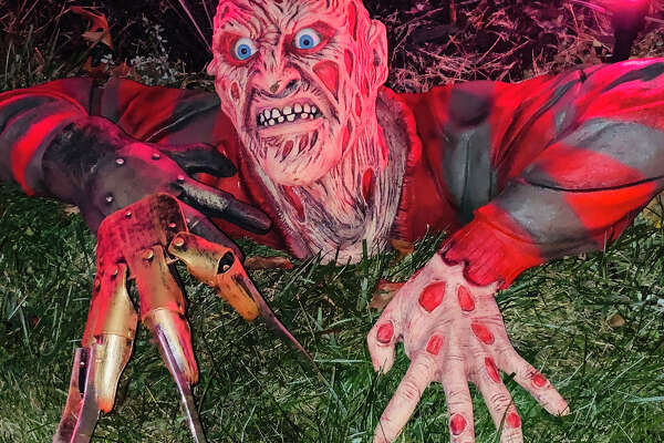 Halloween decorations from around Midland and Gladwin.