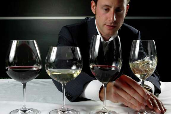 Maximilian Riedel with his Cabernet, Chardonnay, Pinot Noir and Riesling glasses