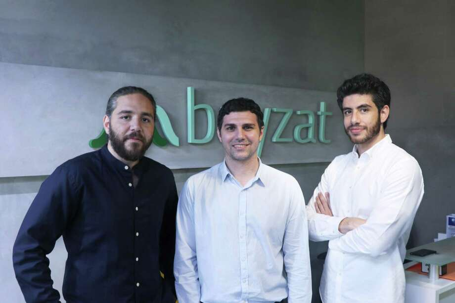 Bayzat co-founders Tarek Bayaa, Brian Habibi, & Talal Bayaa. Stamford-based Point72 Ventures is leading a $16 million funding round in the Abu Dhabi, United Arab Emirates firm, which focuses on digital HR services. Photo: AETOSWire