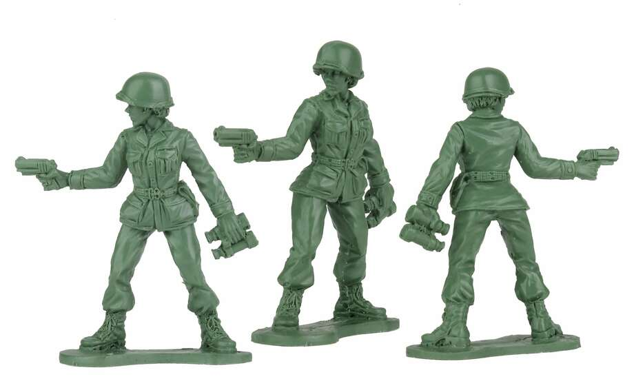 In a photo provided by Jeff Imel and BMC Toys, preliminary models from BMC Toys of Jeff Imel's plastic female toy soldiers. A letter written by Vivian Lord drew a flurry of news media attention and prompted one toymaker to develop, for the first time, a pack of the classic toy soldiers designed to be women. (Jeff Imel/BMC Toys via The New York Times)-- NO SALES; FOR EDITORIAL USE ONLY WITH NYT STORY FEMALE TOY SOLDIERS BY MIHIR ZAVERI FOR OCT. 20, 2019. ALL OTHER USE PROHIBITED. -- Photo: Jeff Imel, NYT