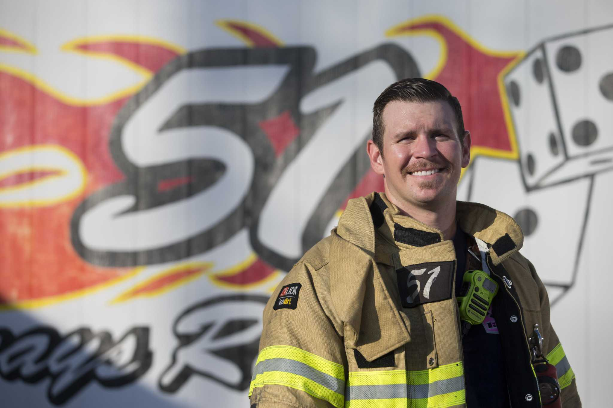Larry Conrad Gutierrez's high energy helps him tackle firefighter and fitness coach jobs