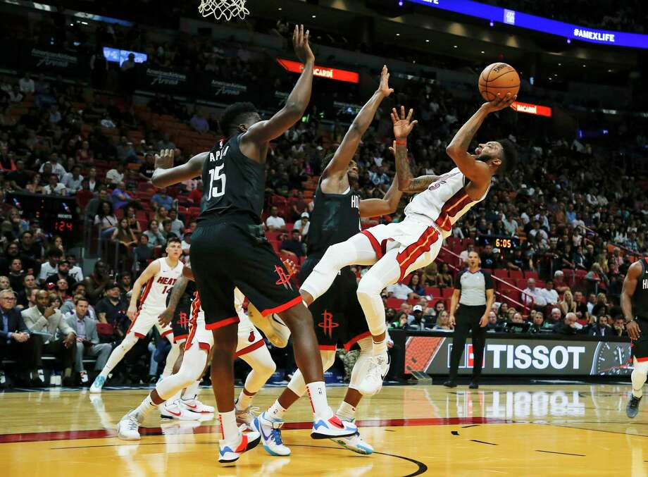 The returns of Clint Capela (15) and Danuel House Jr. restored thestarting lineup the Rockets had used in eight games to start the season. Photo: Joe Skipper, FRE / Associated Press / Copyright 2019 The Associated Press. All rights reserved.