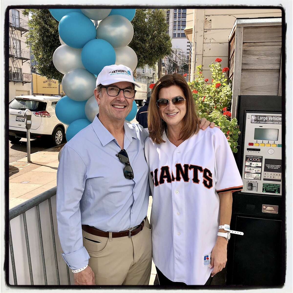 Penny Pitch committee members James Sangiacomo and Gina Nibbi. Oct. 18, 2019.