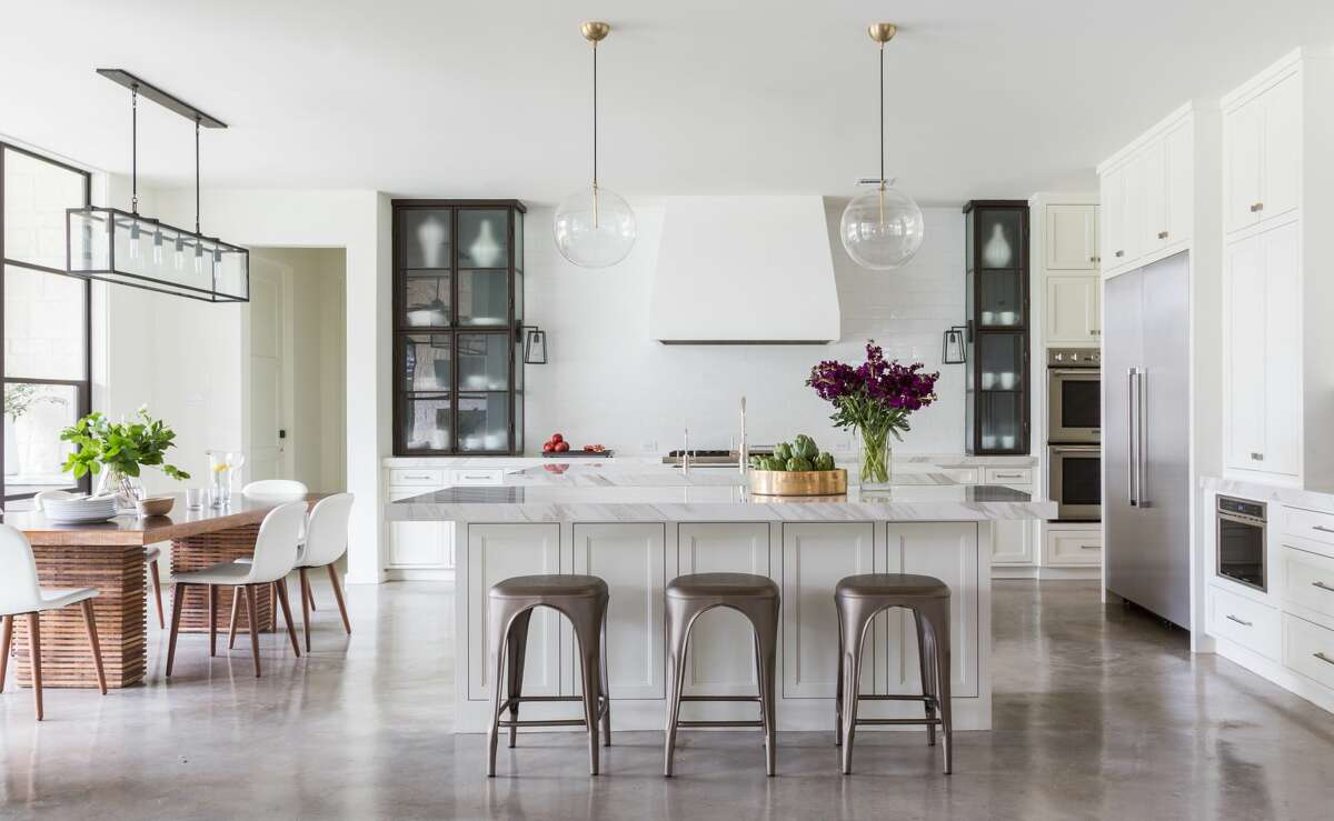 Marie Flanigan Interiors of Houston received a 2019 John Staub Award in the One-Room Interior category for a main living area in a Bellaire home.