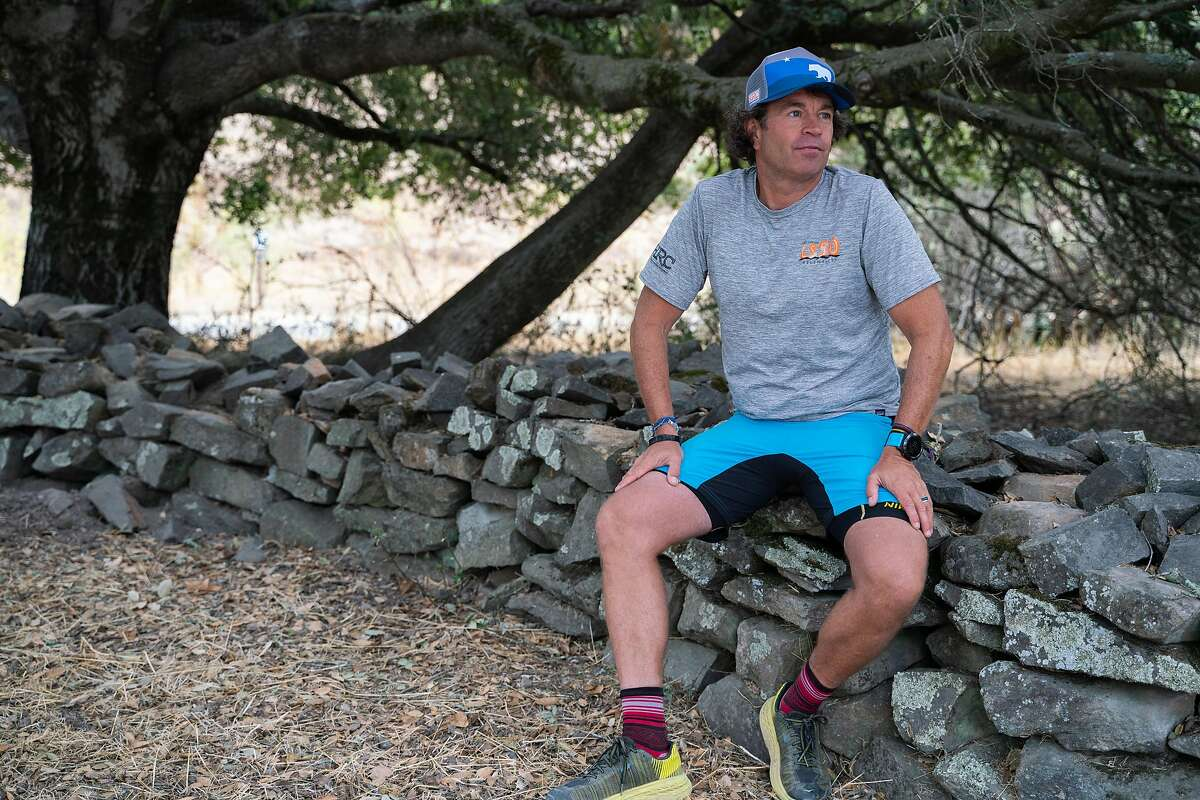 Skip Brand, owner of Healdsburg Running Company, poses for a photo after a trail run at Annadel State Park in Santa Rosa, Calif. on Saturday, Oct. 19, 2019.