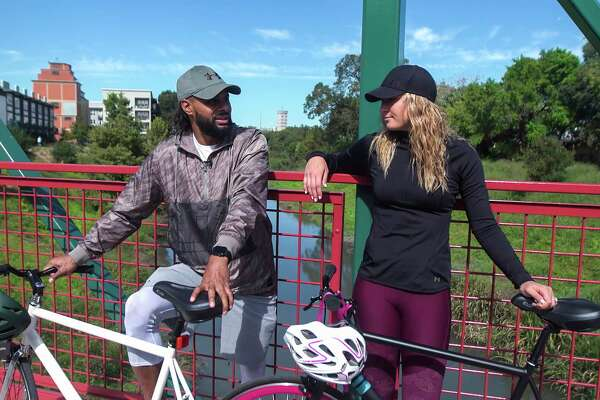 Patty Mills and his wife Alyssa list bike riding as one of their favorite ways to explore their King William neighborhood.