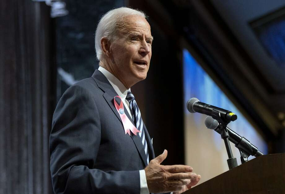Democratic presidential candidate former Vice President Joe Biden speaks at the United Federation of Teachers annual Teacher Union Day, Sunday, Oct. 20, 2019, in New York. (AP Photo/Craig Ruttle) Photo: Craig Ruttle, Associated Press