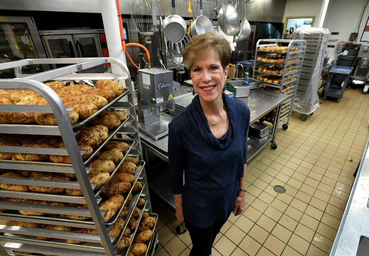 After 35 years of working at Beaumont's Nutrition and Services for Seniors, Elaine Shellenberger is retiring. Pictured in the organization's kitchen, Shellenberger served as director since 2001 and plans to volunteer as a food deliverer with her husband on Thursdays. Photo taken Monday, 10/21/19