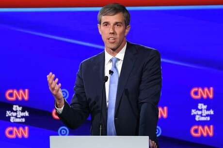 Democratic presidential hopeful former Texas representative Beto O'Rourke speaks during the fourth Democratic primary debate of the 2020 presidential campaign season co-hosted by The New York Times and CNN at Otterbein University in Westerville, Ohio on October 15, 2019. (Photo by SAUL LOEB / AFP) (Photo by SAUL LOEB/AFP via Getty Images)