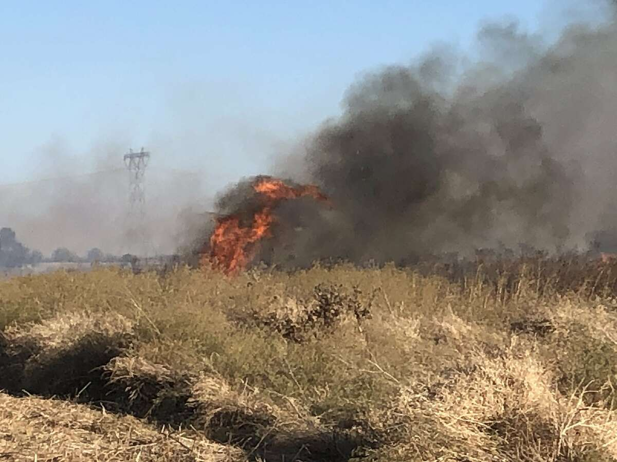Firefighters battled a blaze that was 60 acres as of Monday evening in Brentwood on Orwood Road.