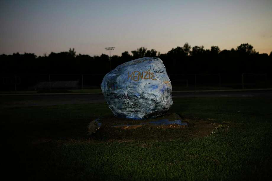 The spirit rock at South Davidson High School and Middle School in Davidson County, N.C. This year, a student painted a racist message onto the rock, igniting a debate across the county: Was it harmless graffiti - a stupid decision by a single teen - or a dangerous call to racial violence? Photo: Photo For The Washington Post By Eamon Queeney / Eamon Queeney