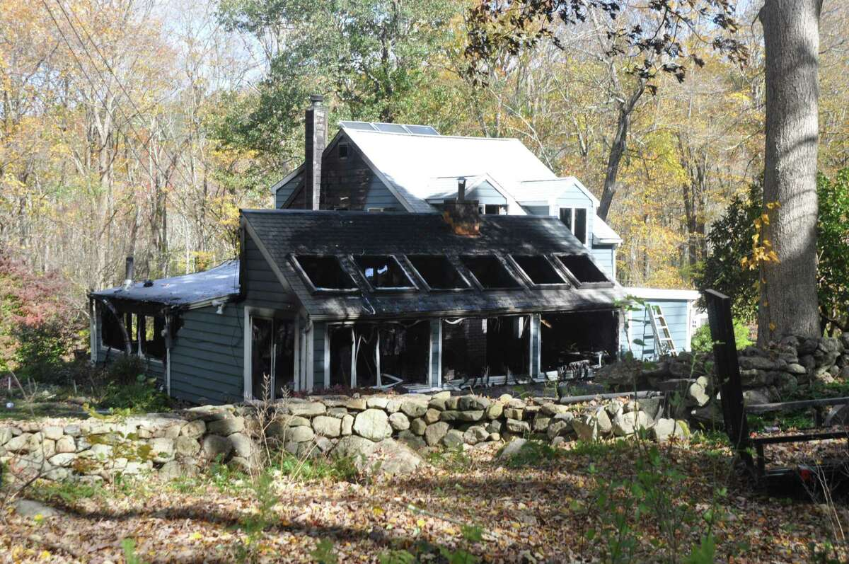 The home at 70 Pumping Station Road in Ridgefield received significant damage from a blaze on Thursday, Oct. 17. An investigation into what caused the fire is still pending.