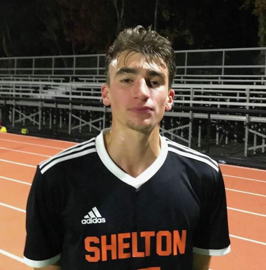 Mark Gergely scored two goals and had a pair of assists for Shelton. Photo: Bill Bloxsom / Hearst Connecticut Media / Shelton Herald