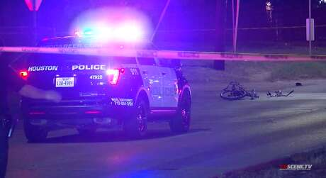A man reportedly pushed his fiancee out of the way of a car that fatally struck him Monday night in the 600 block of Barbers Hill Road, according to Harris County Sheriff Ed Gonzalez. The woman avoided the impact, but the man died on the scene, he said.
